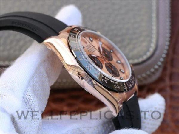 Rolex Daytona 116515ln Men 40mm Rose Gold Dial Rubber Watch