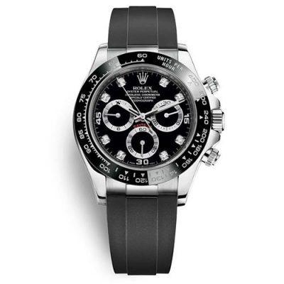 Rolex Daytona 116519ln Black Dial 40mm Unisex Rubber Fixed Watch