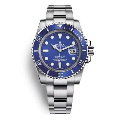 Rolex Submariner 116619lb Replica Men 40mm Blue Dial Silver Watch