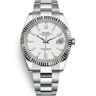 Rolex Datejust 126334 Men White Dial 41mm Silver Steel Watch