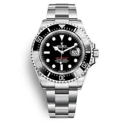 Rolex Sea-Dweller 126600 Men Black Plate Red Letter Dial 43mm Watch
