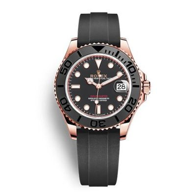 Rolex Yacht-Master 268655 Replica Men 37mm Black Plate Dial Watch