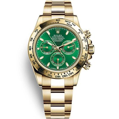 Rolex Daytona 116508 Green Dial Men 40mm Golden Frame Watch