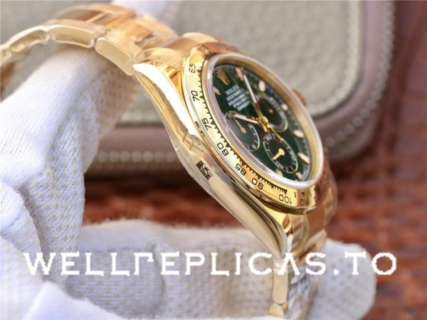 Rolex Daytona 116508 Green Dial Men 40mm Golden Frame Watch