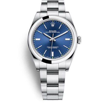 Rolex Oyster Perpetual 114300 Replica 39mm Women Blue Dial Watch