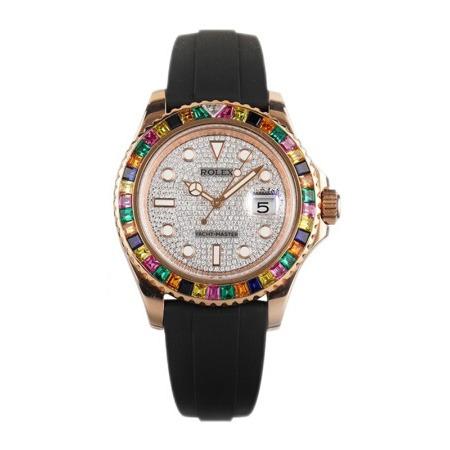 Rolex Yacht-Master 116655 Replica 40mm Men Diamond Face Dial Watch