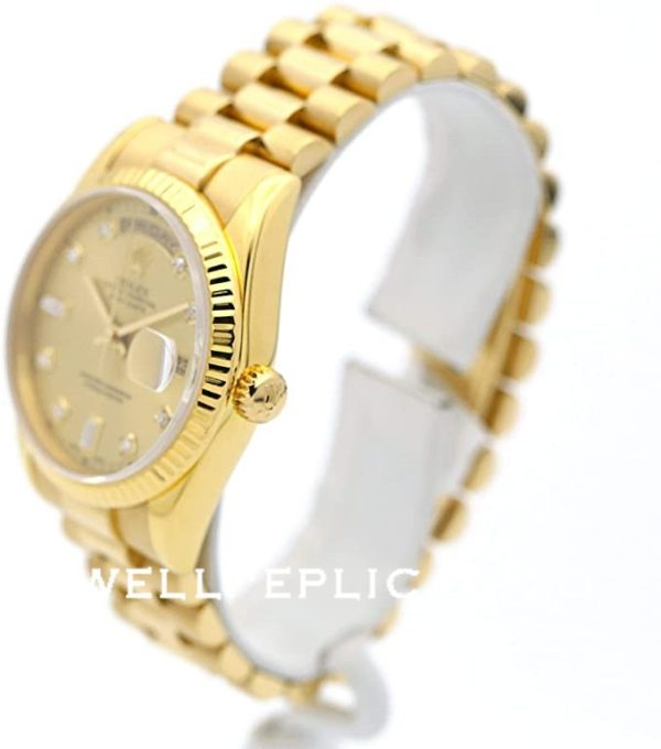 Rolex Day-Date 118238 Replica 36mm Golden Men Diamond Scale Watch