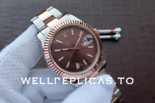 Rolex Datejust 126331 Replica 41mm Brown Dial Date Display Men Watch