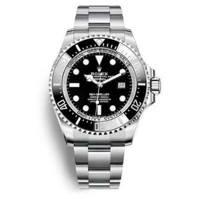 Rolex Deepsea 126660 Replica 44mm Men Black Dial Silver Steel Watch