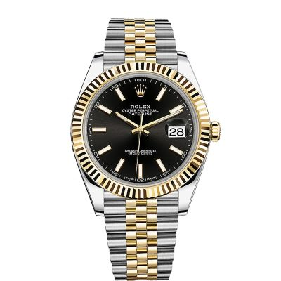 Rolex Datejust 126333 Replica 41mm Black Dial Diamond Women Watch