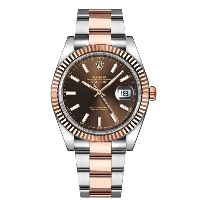 Rolex Datejust 126331 Replica 41mm Brown Dial Date Display Men Watch