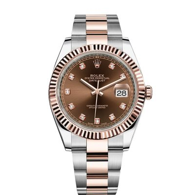 Rolex Datejust 126331 Replica 41mm Brown Dial Diamond Men's Watch