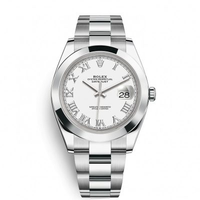 Rolex Datejust 126300 Replica 41mm White Dial Silver Frame Watch