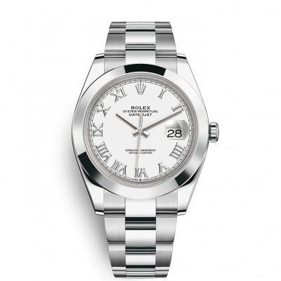 Rolex Datejust 126300 Replica 41mm White Dial Silver Frame Watch