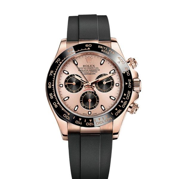 Rolex Daytona 116515 Replica 40mm Men Black Rubber Fixed Watch